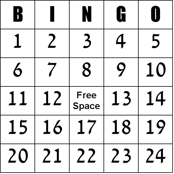 These numbers 1 100 bingo cards have the number 1 100 instead of the